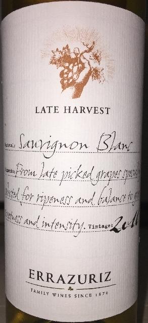 Sauvignon Blanc Late Harvest Errazuriz 2016