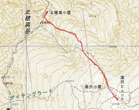 20170503北穂高岳