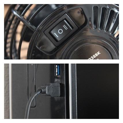 サンワダイレクト USB 扇風機 (5)