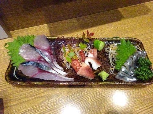 12青魚刺身盛り