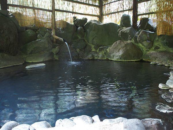 混浴露天風呂@ランプの宿青荷温泉