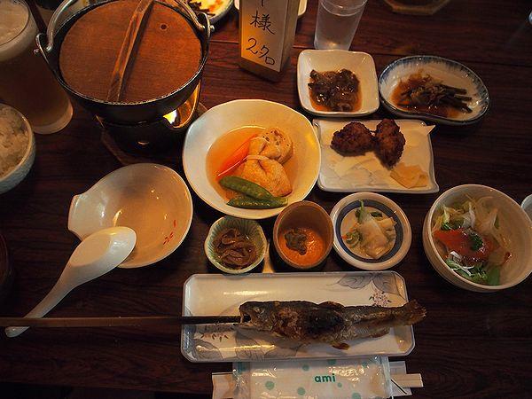 夕食@ランプの宿青荷温泉