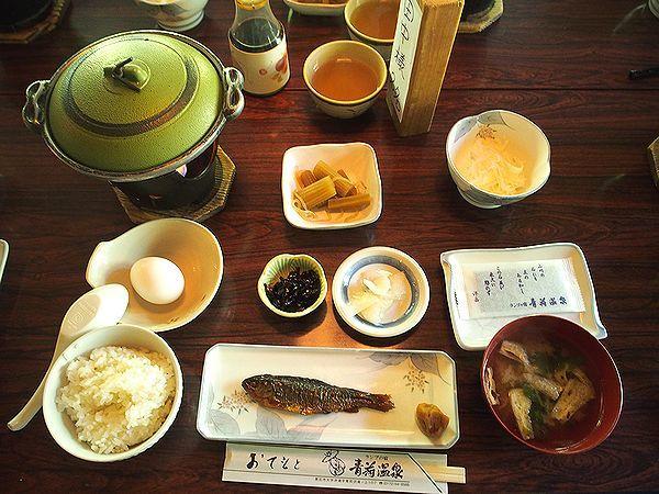 朝食@ランプの宿青荷温泉