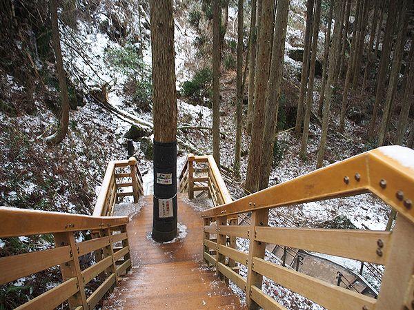 遊歩道@鍋ケ滝