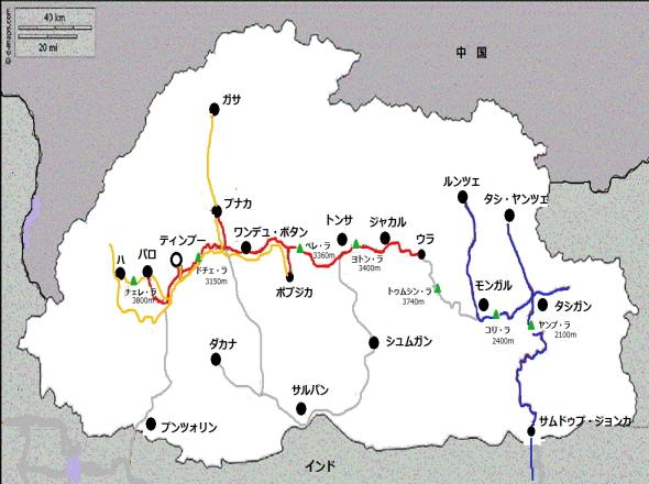 ティンプー地図(小)