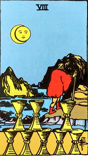タロットカードカップ8 by占いとか魔術とか所蔵画像
