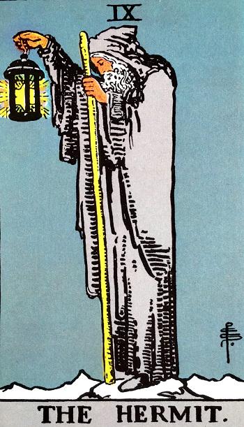 タロットカード隠者 by占いとか魔術とか所蔵画像