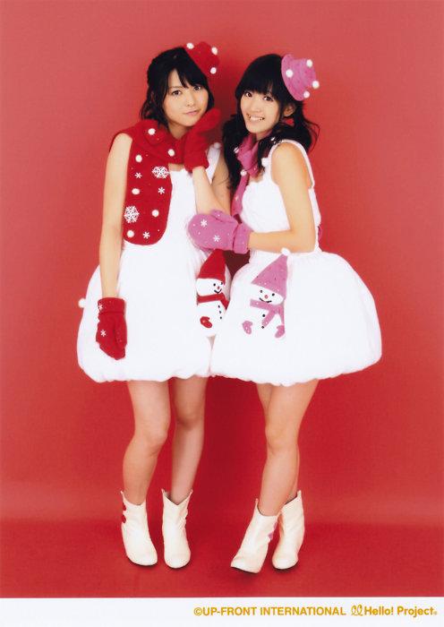 クリスマス 白のワンピ 矢島舞美