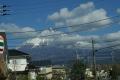 富士山を見ながらの昼食時