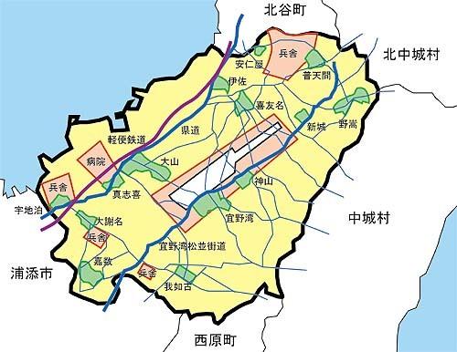 1946 08頃の宜野湾周辺図 がちまやぁより