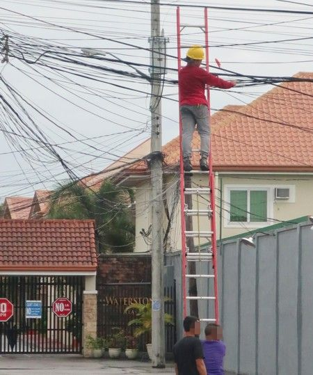 cable change and ladder