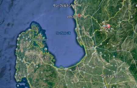bauang-san fernando map