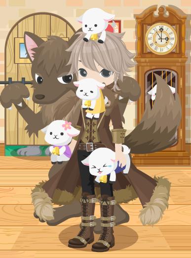 七匹の子ヤギのオオカミコーデ2