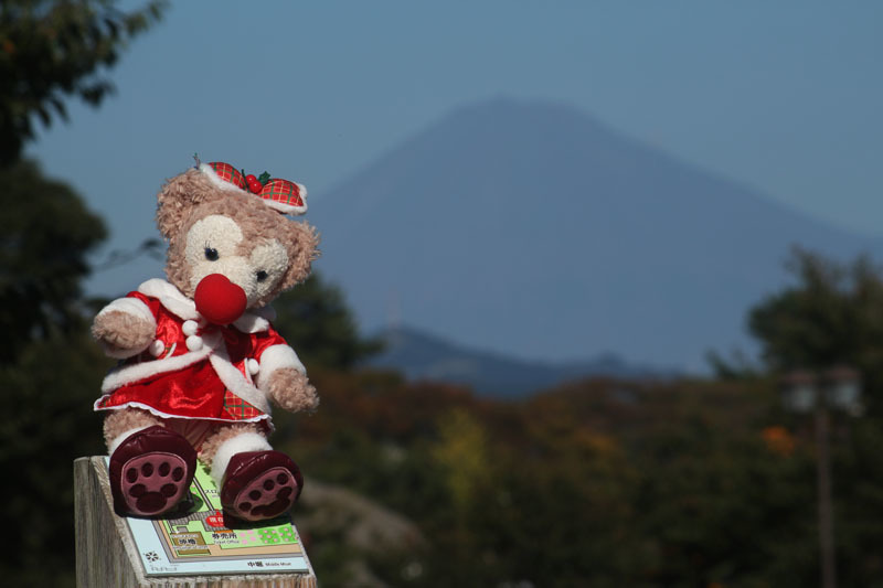 ShellieMay と富士山 坤櫓前から 171103