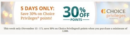 Choice Privilegesポイント購入30%OFF(ユナイテッド航空のマイルを格安で購入できます)