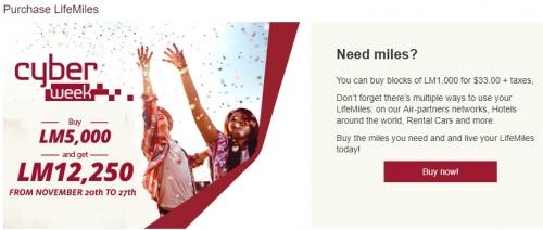 アビアンカ航空 LifeMilesでマイル購入で145%ボーナスマイルキャンペーン