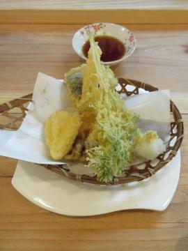 糸島野菜天盛 800円