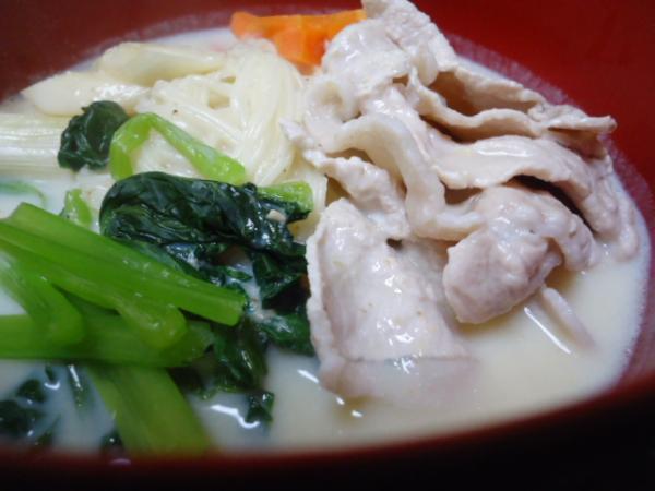 12/15 家食・豆乳ソーメン