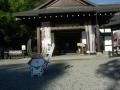 181124彦根城博物館正面玄関とひこにゃん