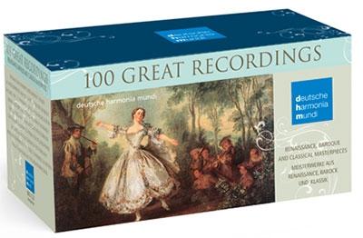 Deutsche Harmonia Mundi Collection 100 Great Recoedings【竿安値100CD】ハルモニア・ムンディ 100グレート・レコーディングス