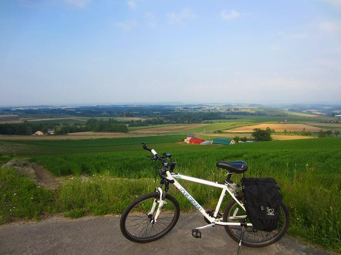 2015 北海道 車中泊の旅 24日目-2  美瑛 自転車サイクリング 足負傷