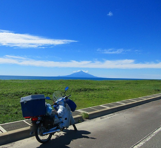 スーパーカブ  北海道 一周の旅 27日目-3 オロロンライン 道道106号~道立宗谷ふれあい公園オートキャンプ場