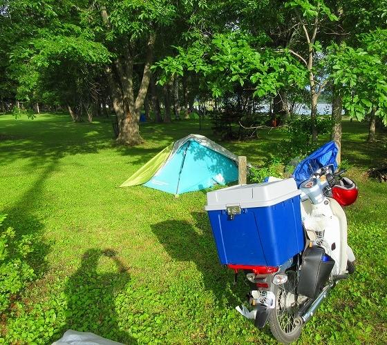 北海道 一周 スーパーカブの旅 23日目-1  女満別湖畔キャンプ場~小清水町
