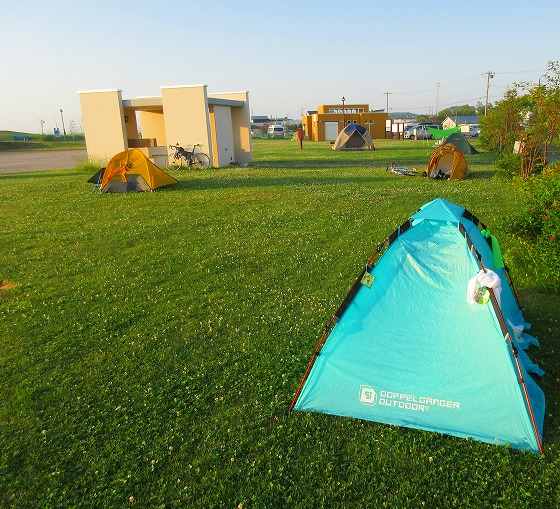 北海道 一周 スーパーカブの旅 19日目-1 しべつ海の公園オートキャンプ場~網走市