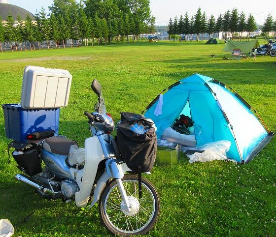 北海道 旅行 スーパーカブの旅 5日目-1 ナウマン公園キャンプ場~帯広~士幌町