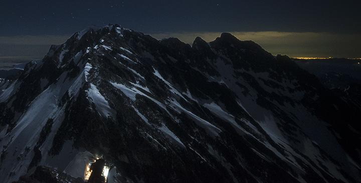 170604 涸沢岳より月夜s