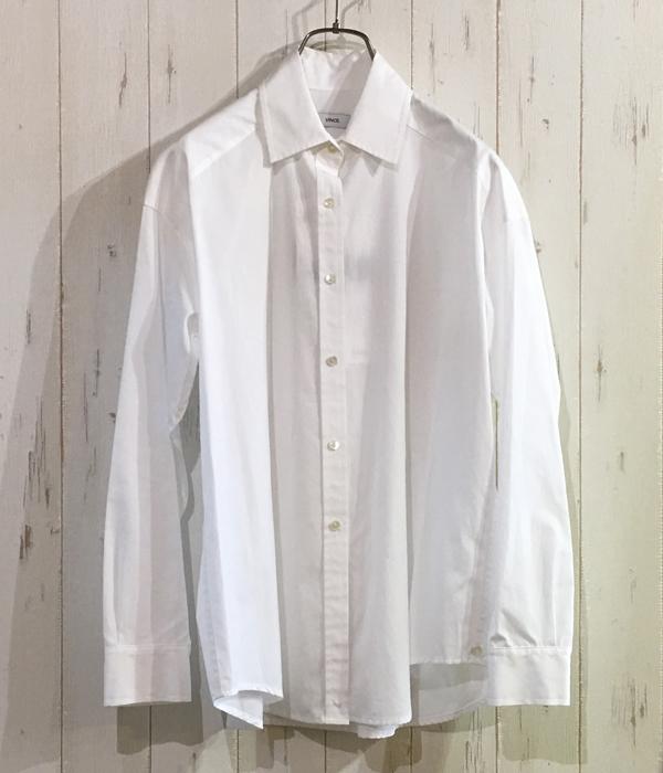 ヴィンスのコットン100%のシャツブラウス
