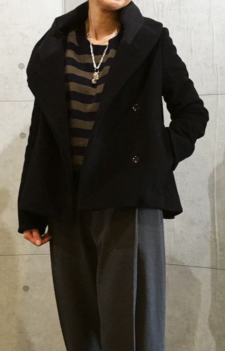 イリゼの異素材コラボの暖かいジャケット