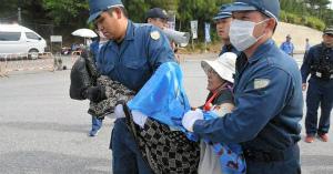 gSLqUfGR沖縄)抗議の女性ら訴えも