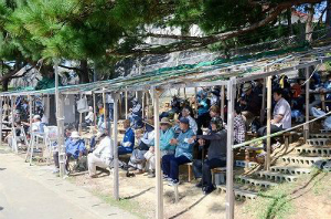 cfffdb9efe8469b19fd81e64ddc3817e辺野古ゲート前約100人抗議