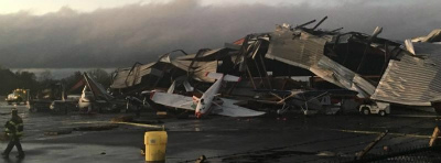 hickory-airport-tornado-damage-october-23-2017サウスカロライナ州