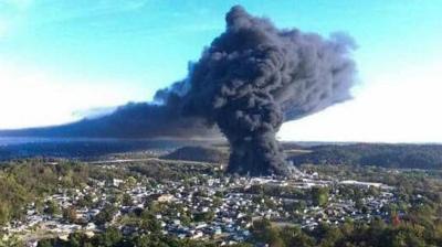 Parkersburg-fire-Ames-ウェストバージニア州