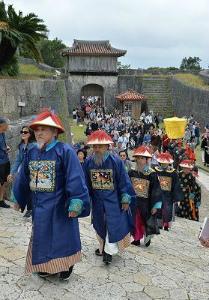 99c38fa2110771f7f07de5b603617e33冊封儀式再現 首里城祭