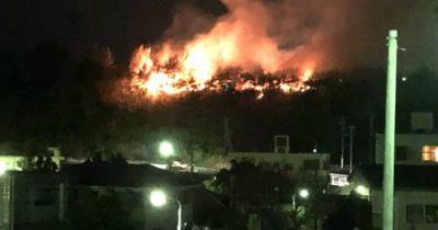 FtkCTEc3昨晩、辺野古付近で発生した山火事は
