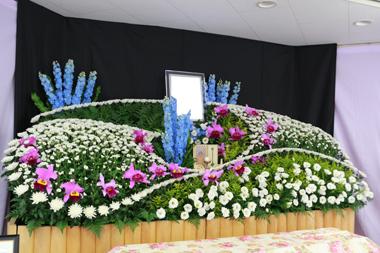 葬儀 花祭壇 豊川 御津 花屋 花夢