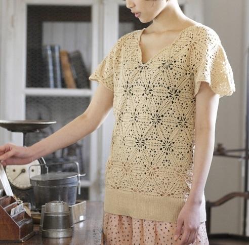 1810ピエロビューティーシルクコットンuvモチーフのセーター