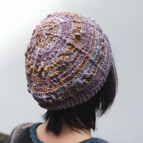 1842つづらパプコーン編みベレー帽