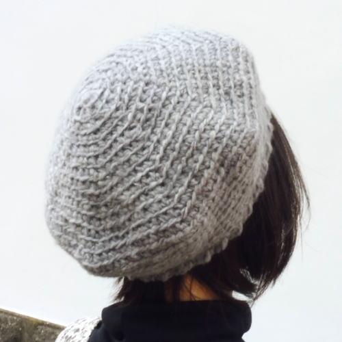 1863エクトリーヌーベルストレッチ太ベレー帽