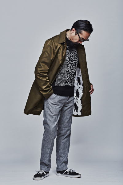 SOFTMACHINE AGENT COAT PULSE OCEAN SWEATER NIKOLAI PANTS PARKES GLASS