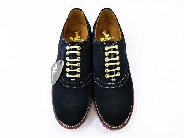 GLAD HAND×REGAL SADDLE SUEDE-SHOES BLK