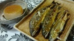 2017-11-02 鮎塩焼き 大根味噌煮 (2)