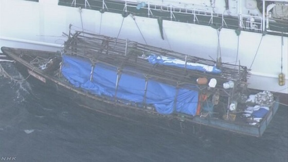 木造船の乗組員 家電を海に投棄 北海道沖