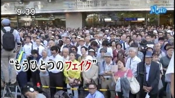 #TBS の #サンデーモーニング が安倍総理の口元のアップした画像と自民党の街頭演説を聞く人達の映像に<span style=