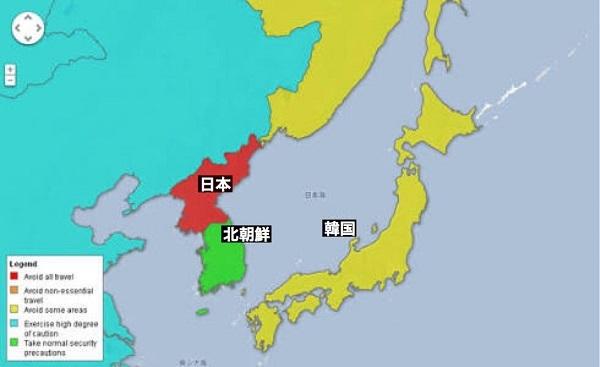 日本にとったらこんな感じの間違いされてるって感じかな