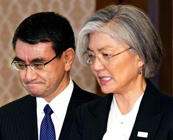 日韓外相会談で韓国が通貨スワップと安倍首相の平昌五輪訪問を要請・図々しい・日本は両方とも拒絶・康京和外相、河野外相との会談で通貨スワップの再開の協議を要請するも、河野外相は拒絶
