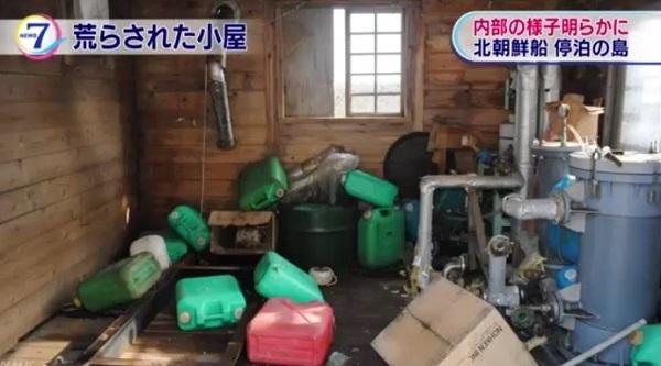 北朝鮮木造船 荒らされた小屋の内部明らかに 北海道